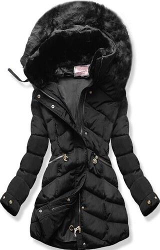 899c98b091 MODOVO Női téli kabát kapucnival W732 fekete - Glami.hu