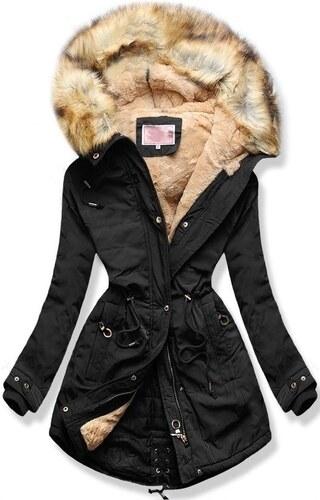 c750272904 MODOVO Női téli kabát kapucnival W165 fekete - Glami.hu