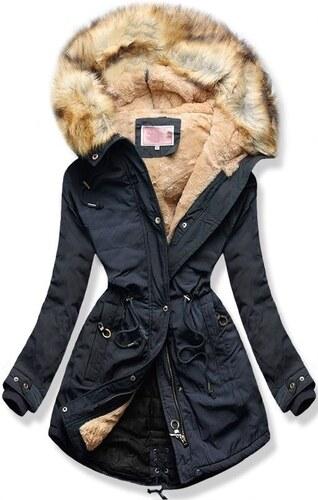 MODOVO Női téli kabát kapucnival W165 sötétkék - Glami.hu 960e46bf8a