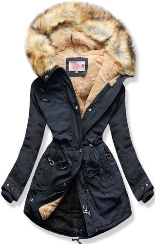 MODOVO Női téli kabát kapucnival W165 sötétkék - Glami.hu 1c1e59f4cf