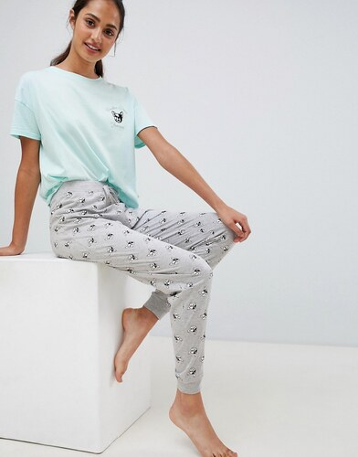 a2b8e2a4930 New Look French Bulldog Jogger Pyjama Set - Mint green - Glami.cz