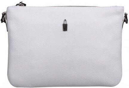 Stredná kožená luxusná crossbody kabelka Wojewodzic biela 31409 GS17 ... ccc2158fd47
