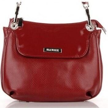 Kožená kabelka športová crossbody červená Wojewodzic 30710 PC02 PL02 ... 43e97633a17