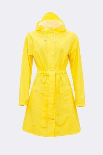 Žltý dámsky plášť s vysokou vodeodolnosťou Rains Curve Jacket ... c6a273dc923