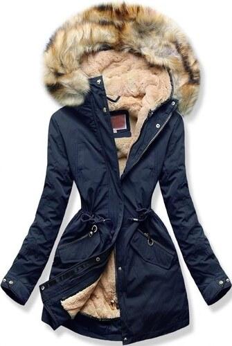 d5d772fb3f MODOVO Női téli kabát kapucnival W164 sötétkék - Glami.hu
