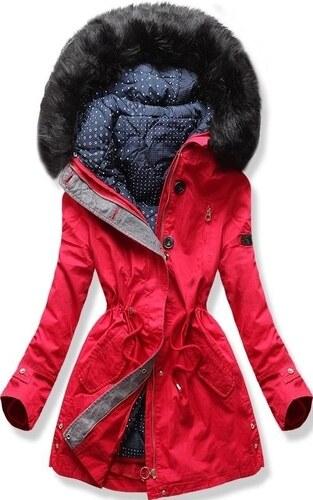 176d2fc831 MODOVO Női téli kabát kapucnival PO-730 piros - Glami.hu