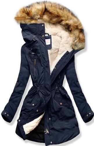MODOVO Női téli kabát kapucnival W171 sötétkék - Glami.hu b90c52d9e9