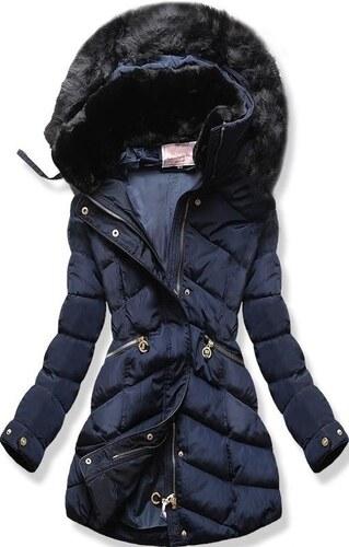 MODOVO Női téli kabát kapucnival W732 sötétkék - Glami.hu 2f0401eb64