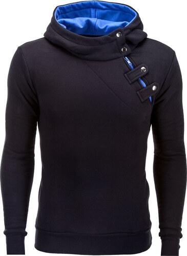 Ombre Clothing Pánska mikina Paco s bočným zipsom černo-modrá - Glami.sk 461f9653ef4