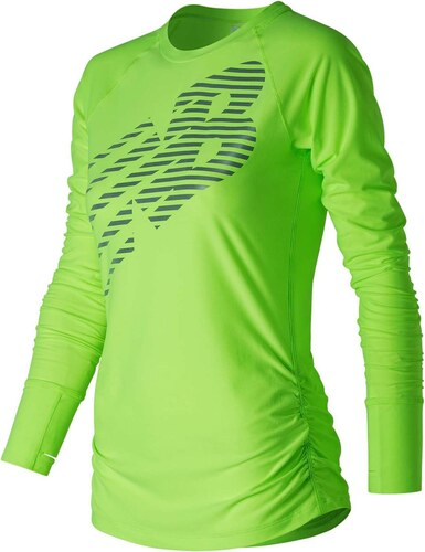 c176e141132 Tričko New Balance Hi Viz Long Sleeve T Shirt Ladies - Glami.cz