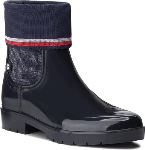 Gumicsizmák TOMMY HILFIGER - Knitted Sock Rain Bo FW0FW03565 Midnight 403 88041ec86b