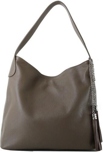 -9% TALIANSKE Talianska kožené kabelky cez rameno Talianska sivozelená  Fabiola 1d7e9d0963d