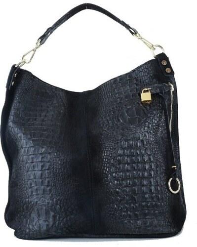-11% TALIANSKE XL Talianska shopperka kožená kabelka veľká na plece čierna  Valika f1ca6e2abe6