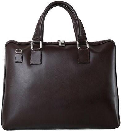 70f9b52666 TALIANSKE Talianska veľká kožená biznisová kabelka čokoládová Cloe ...