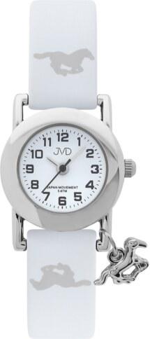 c19a7366ba3 Bílé dětské náramkové hodinky JVD basic J7095.6 s motivem koně 5ATM ...
