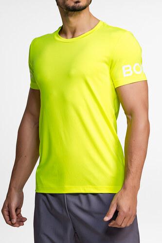 e07f619bfeb3 Björn Borg Pánské neonově-žluté tričko Borg Tee - Glami.cz