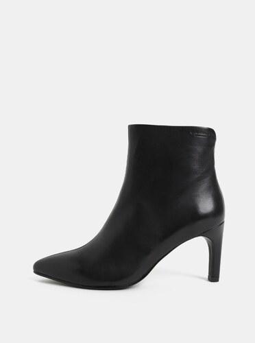 2a009b7bfd52 Čierne dámske kožené členkové topánky na ihličkovom podpätku Vagabond  Whitney