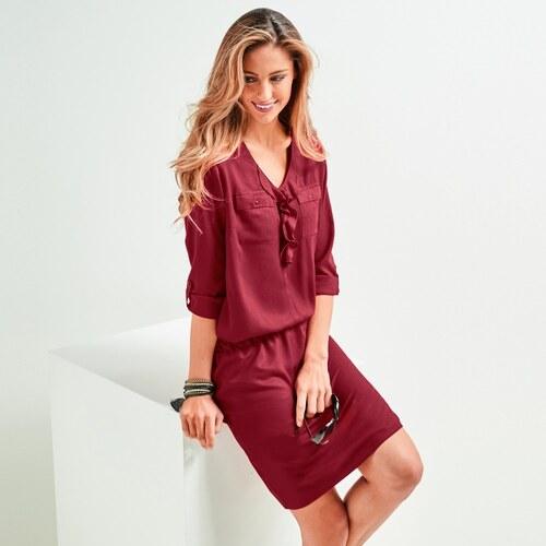 609c8bb0fd3f Blancheporte Jednofarebné šaty bordó 38 - Glami.sk
