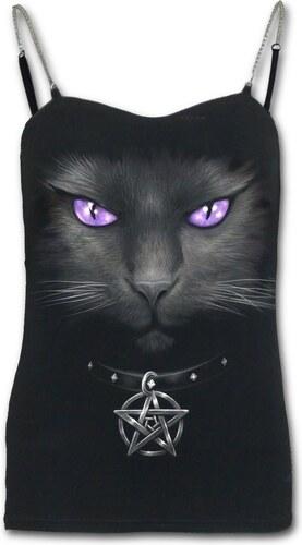 Dedoles Dámské tílko s řetízkovými ramínky s motivem Magická kočka ... e91f4f04cb