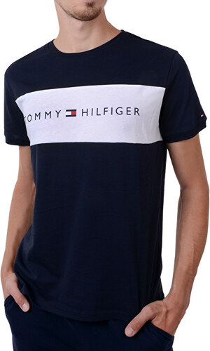 Tommy Hilfiger Pánske tričko Cotton Icon Rn Tee Ss Logo Navy Blaze r  UM0UM00963 -416 1a7b94931e4