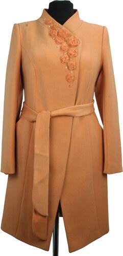 Dámsky kabát Sergio Cotti model 2-356 9 - broskyňový - Glami.sk f3358e43c5e