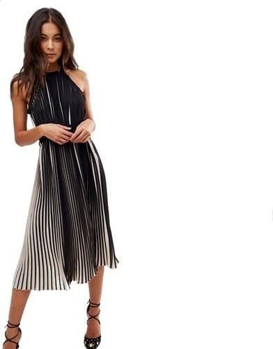 Little Mistress luxusní skládané vzdušné černo-bílé šaty - Glami.cz e8084db1a8