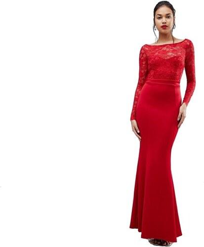 e1b68dc5151 City Goddess červené dlouhé společenské šaty s odhalenými zády ...