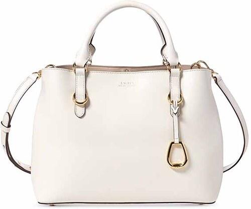 ff6f01f4b5 Lauren Ralph Lauren kabelka Bennington satchel vanilla white - Glami.cz