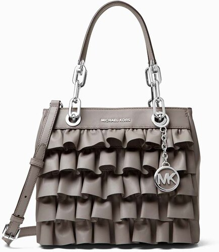 Kabelka Michael Kors Cynthia small ruffled leather satchel - Glami.cz 9dd1fab0b25