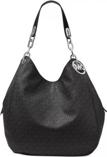 aacc43c5ea Kabelka Michael Kors Fulton large logo shoulder bag black - Glami.cz