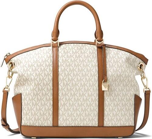 31103650e4 Michael Kors Beckett large top zip satchel vanilla - Glami.cz