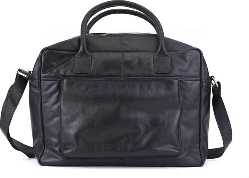 Černá kožená pánská taška s kapsou na notebook Spean - Glami.cz db8600b5b2