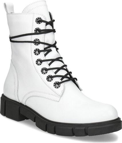 Baťa Dámska biela kožená členková obuv - Glami.sk 824449dcb91