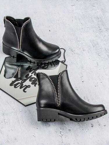 SERGIO TODZI Nazouvací nízké černé kotníkové boty - Glami.cz ce479b573b