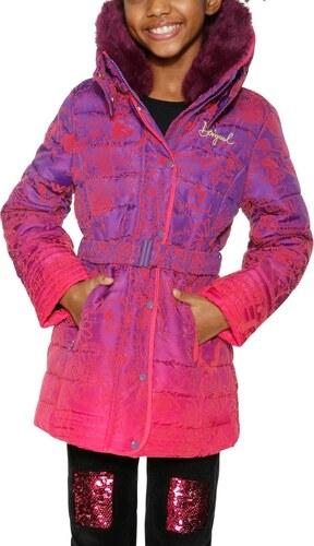 Desigual fialovo-růžový dívčí kabát Hume - 5 6 - Glami.cz 00c4ab92964