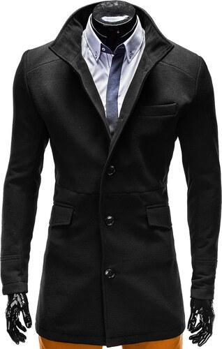 Zapana   Ombre Clothing Férfi elegáns téli kabát alló gallérral Victor  fekete 95f08ad1cc
