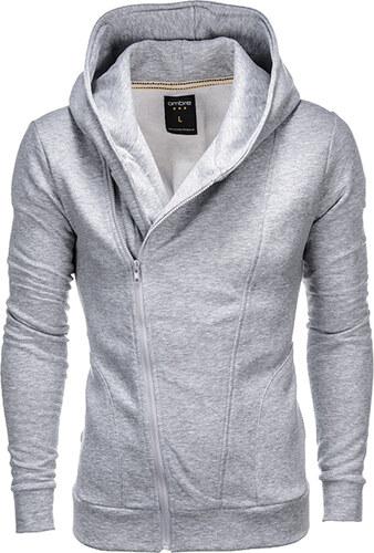 Ombre Clothing Pánská šedá mikina Primo s assassin creed kapucí ... d8f3766ab51