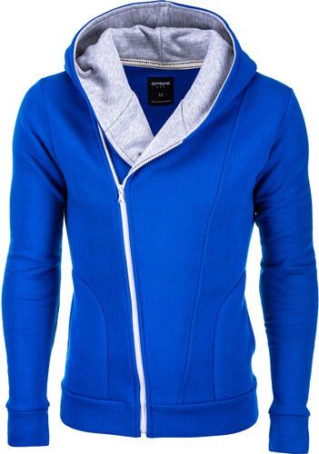 Ombre Clothing Pánska modro-šedá mikina Primo s assassin creed kapucňou 13b297a2744