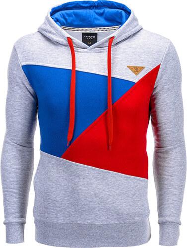 Ombre Clothing Pánská sportovní mikina s kapucí Sean šedá - Glami.cz a31fb23ce3