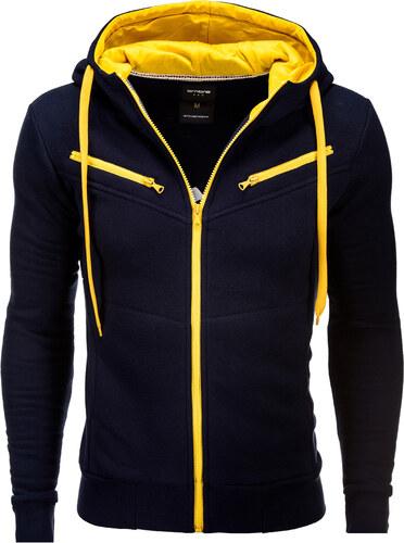Ombre Clothing Pánska mikina Amigo modro-žltá - Glami.sk 9ed5278da55