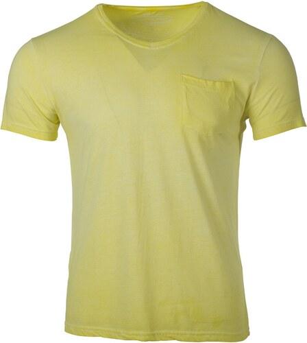 12488a94c2f7 Ombre Clothing Pánske tričko s krátkým rukávom Shade žlté - Glami.sk