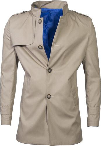 d70865400688 Ombre Clothing Pánsky jesenný kabát k obleku Eliot béžový - Glami.sk