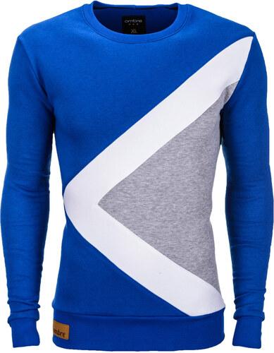 Ombre Clothing Pánska mikina Erico modrá - Glami.sk 8f33ef9db0a