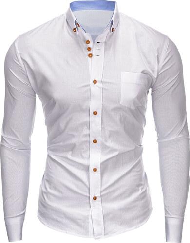 2e5a29e7f439 Ombre Clothing Pánska košeľa slim fit Jude biela - Glami.sk