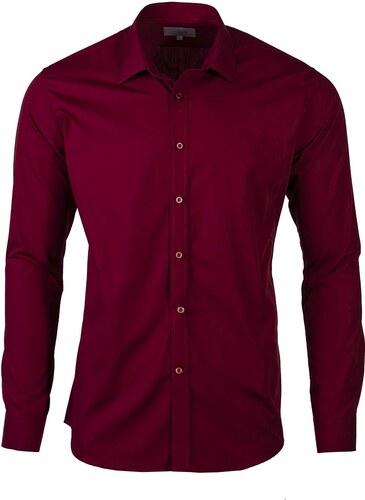 Victorio Pánské košile na manžetové knoflíky Trader bordó - Glami.cz a9f25009f1