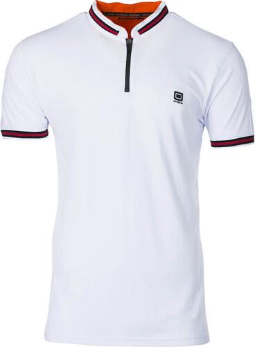 00bad849147f Ombre Clothing Pánske polo tričko s golierom Brent biele - Glami.sk