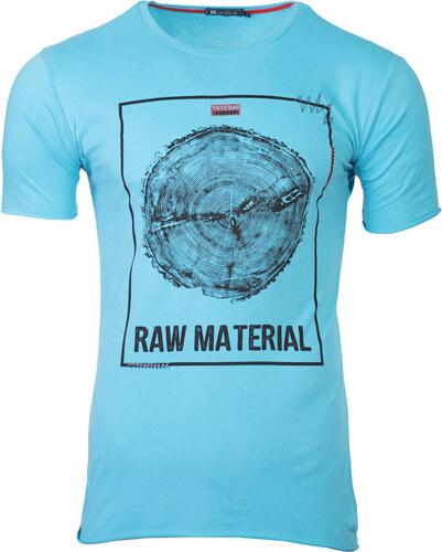 Ombre Clothing Pánské tričko s potiskem Raw tyrkysové - Glami.cz eaefd7b434