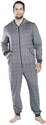 3261d5d10dc9 Italian Fashion Pánský overal na spaní na zip Mario šedý - Glami.cz