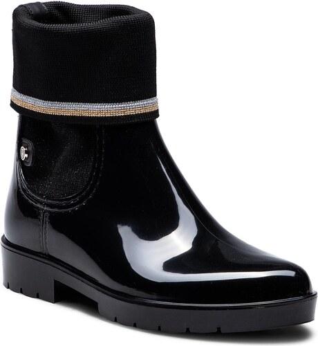 Gumicsizmák TOMMY HILFIGER - Knitted Sock Rain Bo FW0FW03565 Black ... 48f3debafd