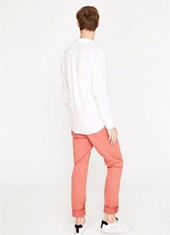 Bílá lněná pánská košile Pepe Jeans PRESTI 3593be1a75